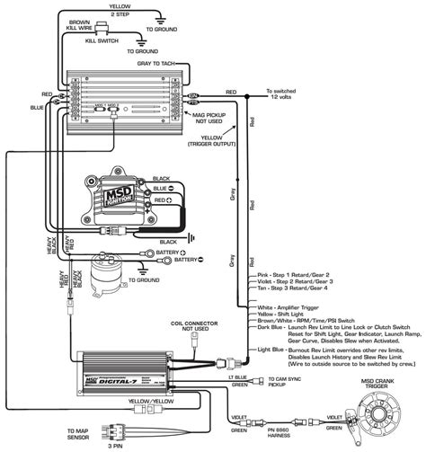 msd digital 6 plus wiring diagram msd automotive wiring