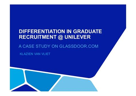 powerpoint templates unilever klazien van vliet differentiation in graduate