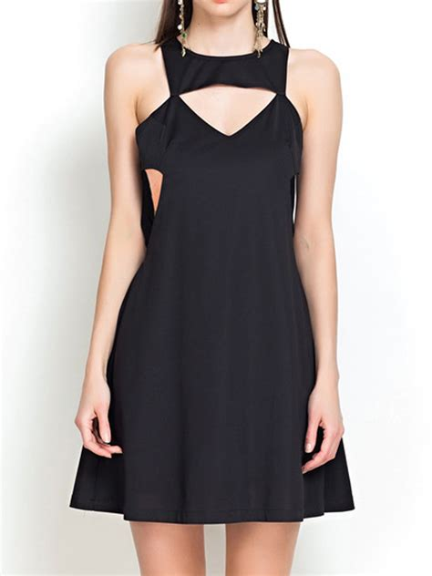 Cut In A Line Dress limited black a line dress with cut out detail selling