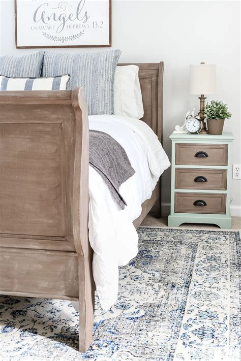weathered wood bed painted weathered wood bed makeover furniture bedroom
