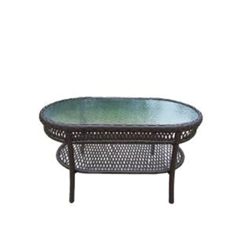 Home Depot Outdoor Coffee Table Oakland Living Elite Resin Wicker Oblong Patio Coffee Table 90092 Ct Cf The Home Depot