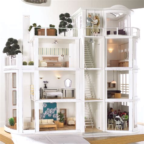 modern dollhouse malibu beach house kit modern art deco style dolls house