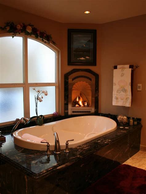 bathroom with fireplace 15 exles of opulence and elegance bathrooms with fireplace