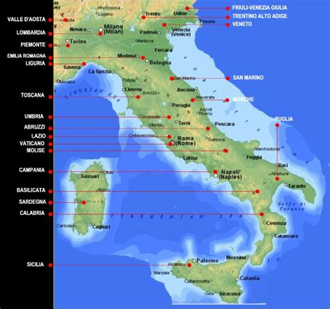 italy regional maps geography italy map geographic