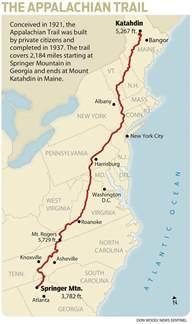 appalachian trail map appalachian trail a brief history loganchristiansen