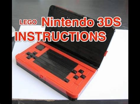 lego gameboy tutorial lego nintendo 3ds instructions youtube