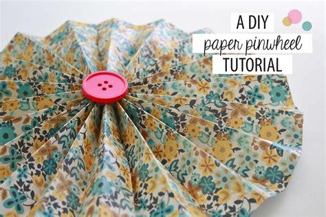 Paper Pinwheels - a diy paper pinwheel tutorial green diy