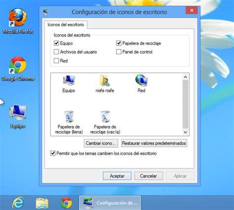 mostrar imagenes windows 10 windows 8 como mostrar el icono de equipo en el escritorio