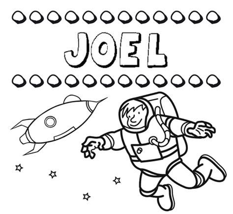 imagenes locas con el nombre joel dibujo con el nombre joel para colorear pintar e imprimir
