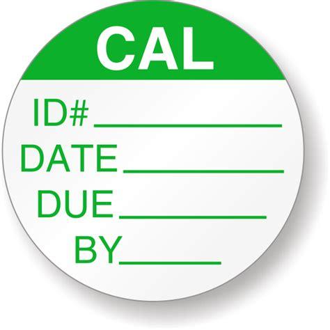 Calibration Calibration Label Template