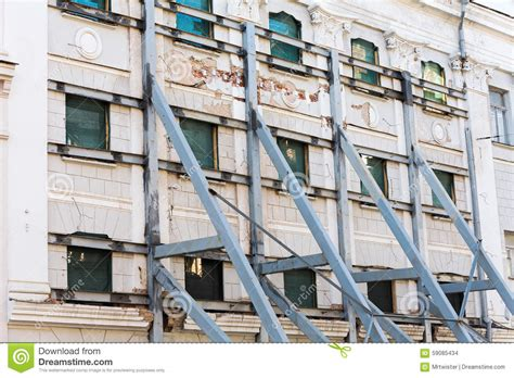 renovation with supporting steel beams stock photo image