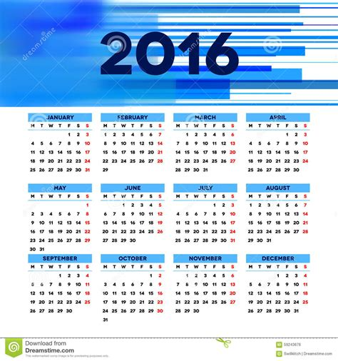 layout of calendar 2016 calendar 2016 template design with header picture stock