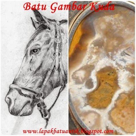 koleksi batu antik bg228 batu gambar kepala kuda