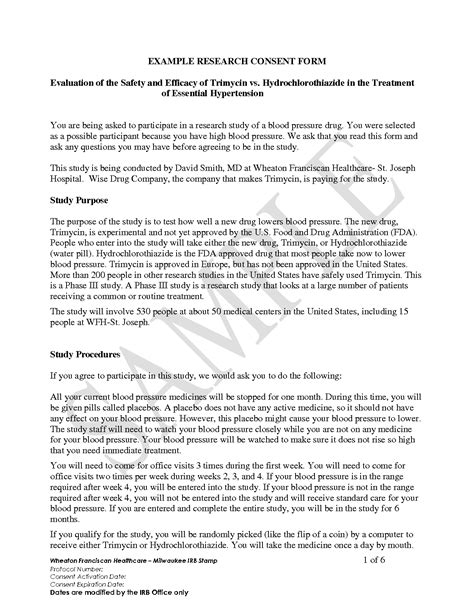 informed consent template for research best photos of research consent form template informed