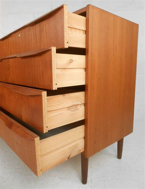 2 pc matching danish modern teak bedroom dresser set by pair of danish teak dresssers for sale at 1stdibs