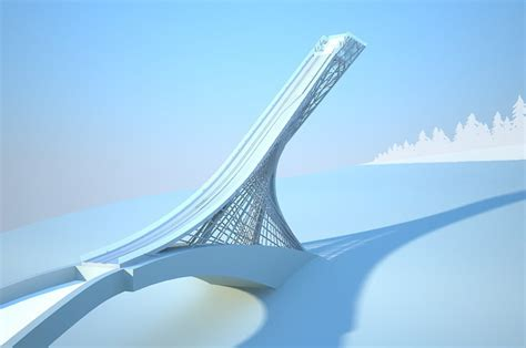 design of ski jump hill sports architecture tag archdaily page 34