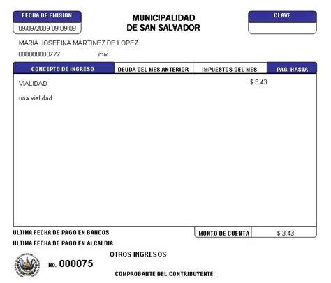 pago mensual de no deducibles remanente por las donatarias 01 recibo para pago de impuesto de vialidad