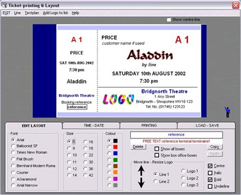 ticket layout editor online nortech software box office event ticketing ticket