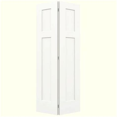 2 Panel Bifold Closet Doors Craftsman Smooth 2 Panel Painted Molded Interior Bifold Closet Door