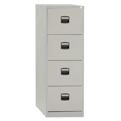 buy trexus  bisley contract  drawer foolscap lockable steel filing cabinet grey ref