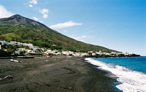 volcanic beach postcards from stromboli the italian island home to