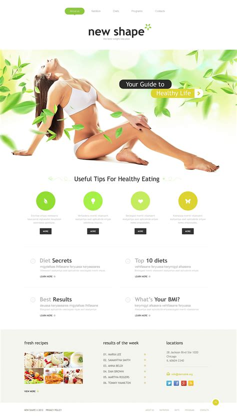 Weight Loss Responsive Website Template 45756 By Wt Website Templates Weight Loss Testimonial Template