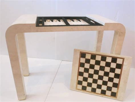 maitland smith chess table tessellated chess backgammon console table by