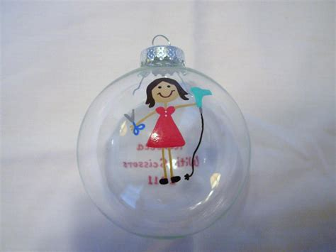 handpainted hairdresser ornament reserved for mapsmom on