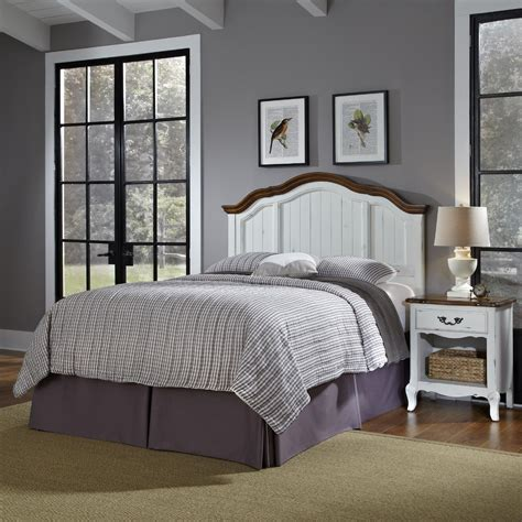 go to bed in french home styles oak and rubbed white french countryside king