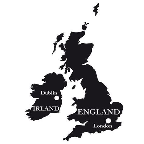 Irland Auto Aufkleber N by England Karte Umriss Wandtattoo