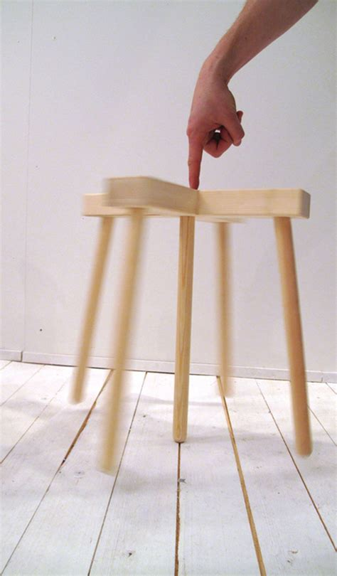 Stool Leg by Tiptoe Stool Five Legged Furniture Balances On Three Legs