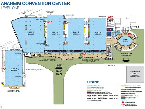 anaheim convention center floor plan exhibit capacities anaheim ca official website