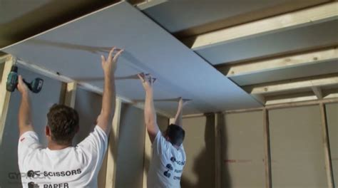 How To Fit A Plaster Ceiling by How To Install Plasterboard Part 3 Ceilings And Walls
