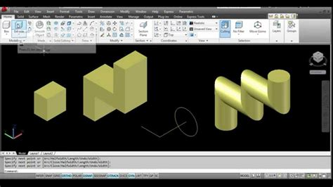 autocad tutorial greek autocad 2012 tutorial command extrude greek youtube