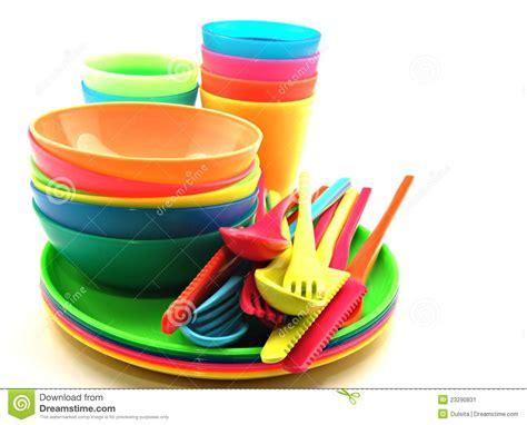 Plastic utensils stock image. Image of accessories, picnic
