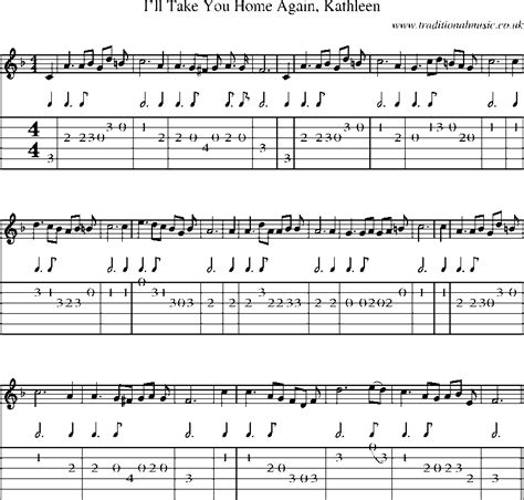 guitar tab and sheet for i ll take you home again