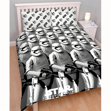 stormtrooper bedding star wars episode vii stormtrooper awaken double duvet