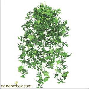 Hayrack Window Box - 30 quot artificial english ivy outdoor rated artificial