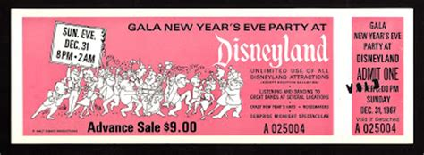 disneyland tickets for new years vintage disneyland tickets gala new year s at