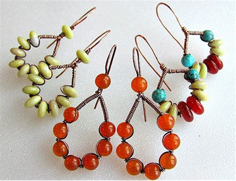 diy beaded earrings tutorial quot how to wire wrap jewelry 16 diy jewelry wire wrapping