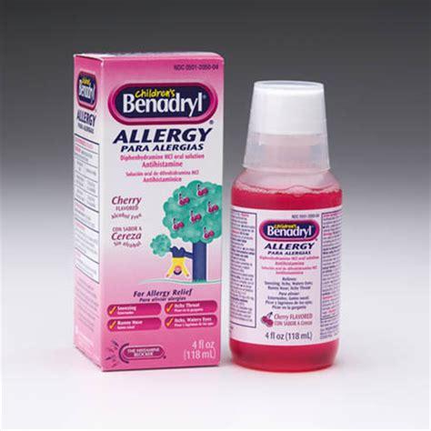 benadryl dosage pfizer consumer healthcare children s benadryl allergy liquid 4 oz each