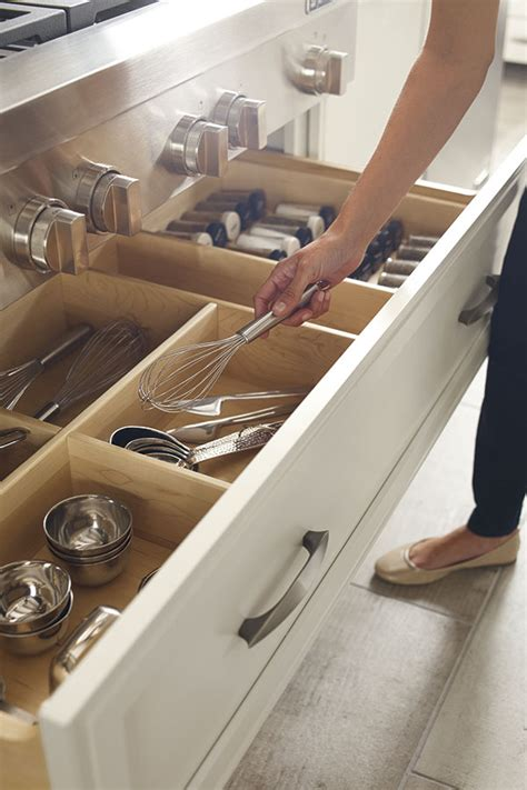 kitchen drawer design customized cabinet storage omega cabinetry
