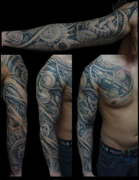 biomechanical sleeve tattoo designs biomechanical images designs