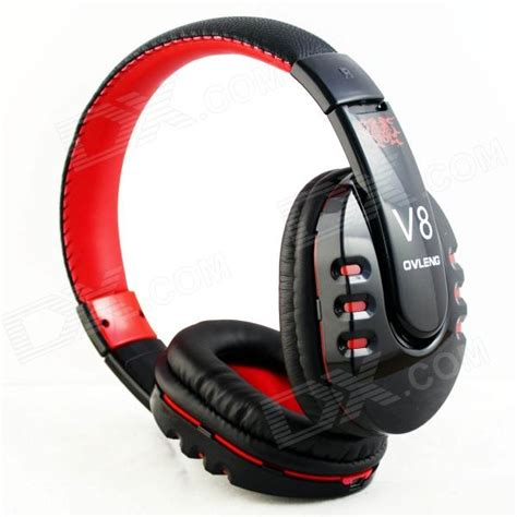 ovlang v8 bluetooth v2 1 stereo headset headphone black free shipping dealextreme