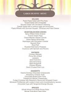 buffet menu template cornucopia bakery the cornucopia catering