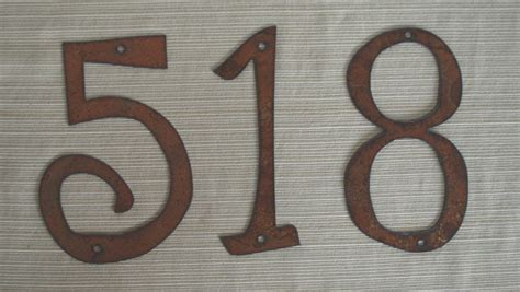 house number individual house numbers or letters rustic metal 4 inch to
