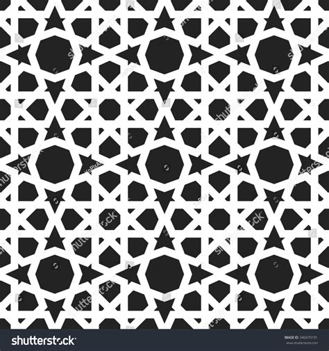 black and white moroccan pattern moroccan pattern eastern traditional style oriental stock