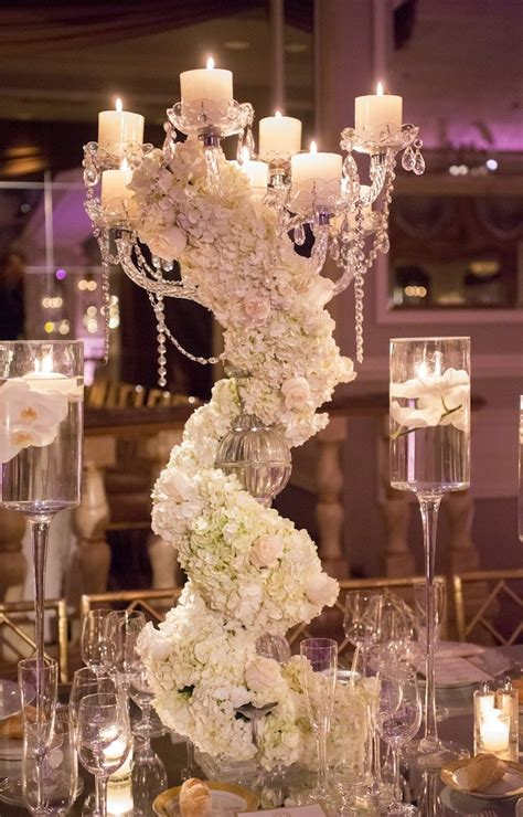 Glamorous New York Wedding At The Pierre Hotel Modwedding Wedding Reception Centerpieces