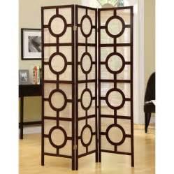 decorative screens for living rooms shop monarch specialties 3 panel cappuccino folding indoor