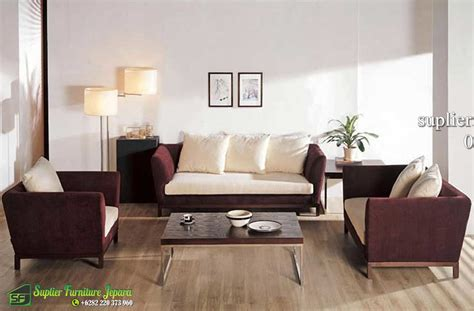 Furniture Sofa Minimalis set kursi sofa tamu minimalis modern terbaru suplier